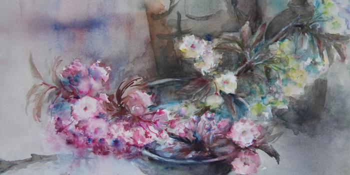 佐藤弓子の鉢に春