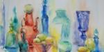 佐藤弓子の色ガラスのビン