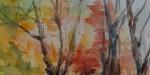佐藤弓子の水面の紅葉